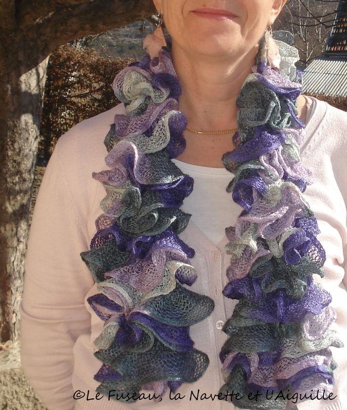 echarpe volants violet5