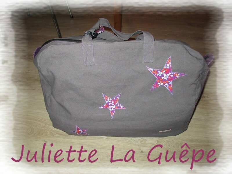 sac week end gris violet