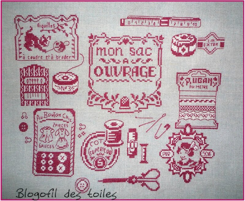 SAC A OUVRAGES BRODERIE FINIE