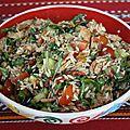 Salade de poulet mariné: une de mes recettes préférées