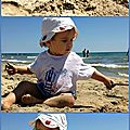 A la plage de l'espiguette, avec mamie !