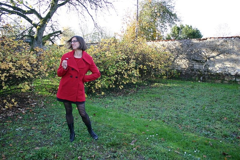 veste rouge burda 1