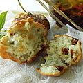 Muffins aux tomates séchées et au basilic, sans gluten et sans lactose