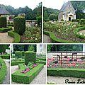 Le jardin a la francaise du chateau de courtanaux