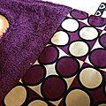 Elaura's purple velvet bavoir
