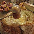 Fondue au camembert dans son pain