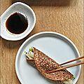 Un menu complètement sarrasin : mini-crêpe au radis braisé