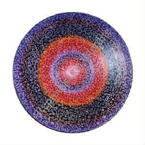 plat violet diamètre 45 cm