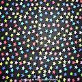 251 - Etoiles multicolores sur fond noir