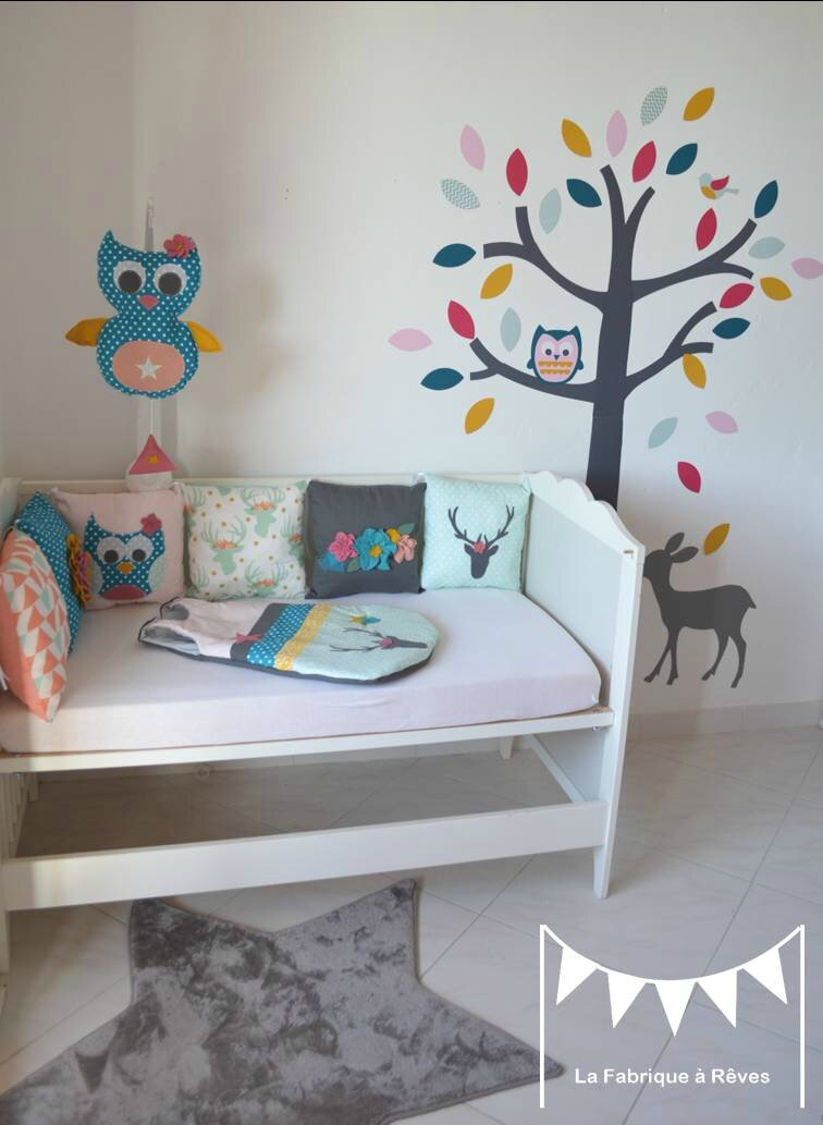 chambre bebe hibou bleu avec des id es int ressantes pour la conception de la chambre. Black Bedroom Furniture Sets. Home Design Ideas