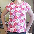 Tee-shirt jersey fleuri 1