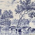 18th century dutch delft blue and white, polychrome & manganese red