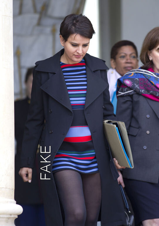 Najat Vallaud -Belkacem, mini-jupe
