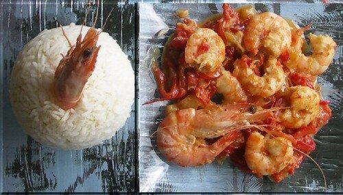 Crevettes à l Asiatique