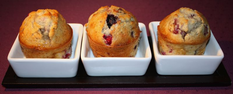Muffins Fruits rouges-Chocolat Blanc