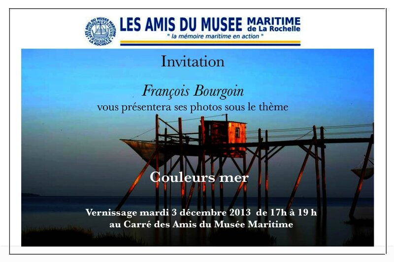 Invitation vernissage photos François Bourgoin