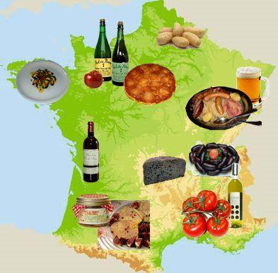 Les regions de france et ses specialit s le blog de sophie - Cuisine francaise par region ...
