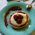 tartelette chocolat blanc-framboises, recette Cyril L.