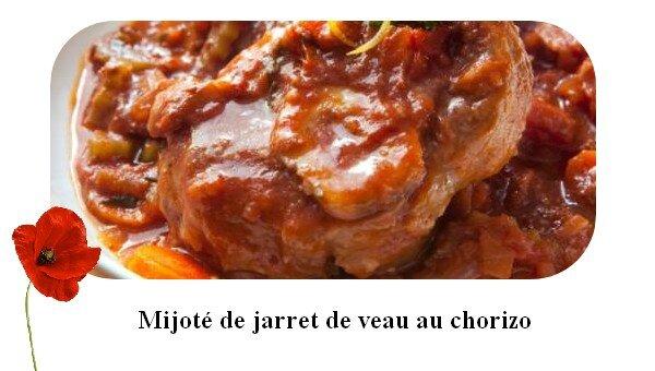 Mijot de jarret de veau au chorizo le monde de marie - Comment cuisiner le jarret de veau ...