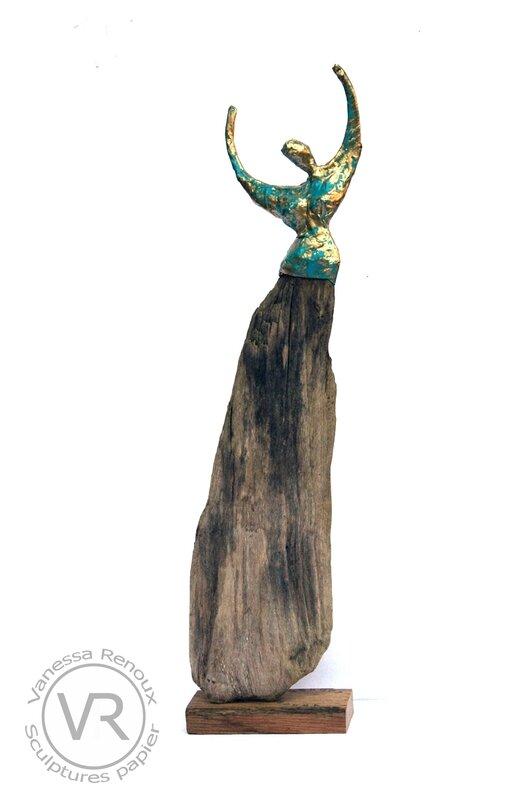 sculpture-robe-bois-femme-papierbronze-vanessaRenoux-2017