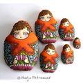 Set de 4 doudous poupées russes