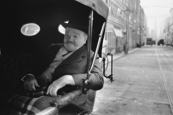 James Cagney Relaxes in a Carriage on the Set of Ragtime LondonEngland 1980