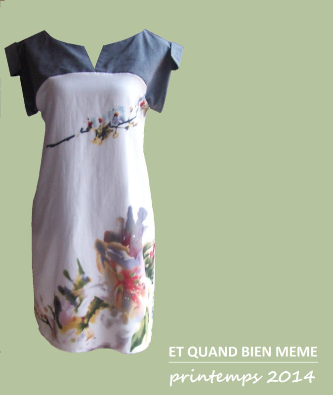 Robe GRAPH orchidée devant