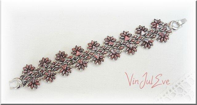 bracelet Gissy Rouge moucheté