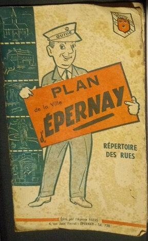 plan de la ville d'Epernay
