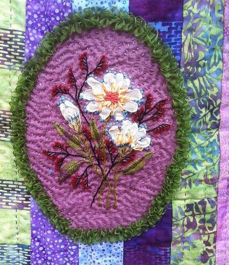sac batik détail fleur