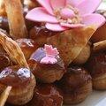 Pièce montée choux vanille-caramel