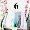 6 numérotée Chaise arc en ciel