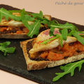 Crostinis de tomates aux filets de rougets grills