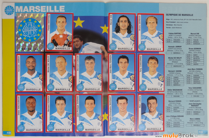 Album-panini-FOOTBALL-1995-9-MARSEILLE-muluBrok