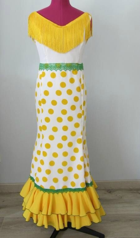 robe flamenco jaune 2