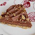 Tarte au praliné et mousse au chocolat (recette de professionnel)