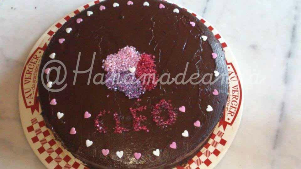 Layer cake au chocolat garni de nutella!
