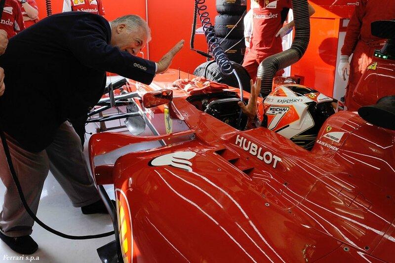 2014-Barhein essais prives 2-F14 T-Raikkonen & Piero Ferrari