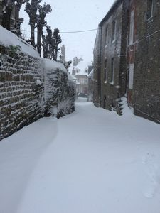 Avranches rue Engibault neige 12 mars 2013