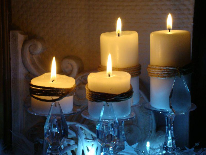 4 bougies près