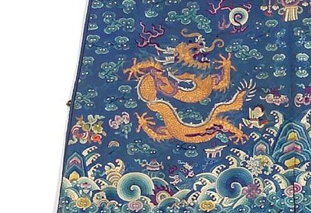 A_blue_silk_ground_embroidered_dragon_robe2