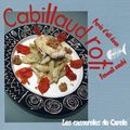 Cabillaud roti fenouil saut pure d'ail doux