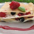 Millefeuille chocolat blanc, fruits rouges