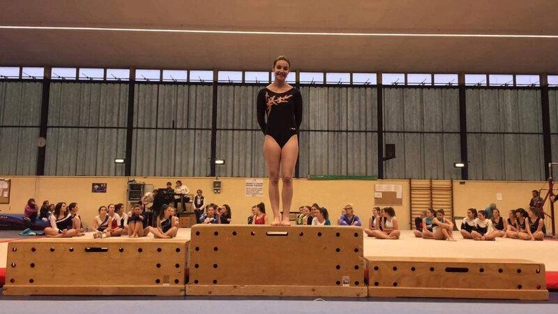 Eva sur le podium