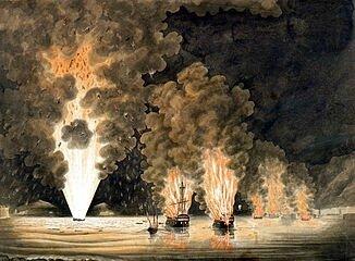 Toulon incendie de la flotte française