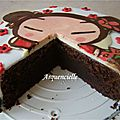 Gâteau pucca coupé