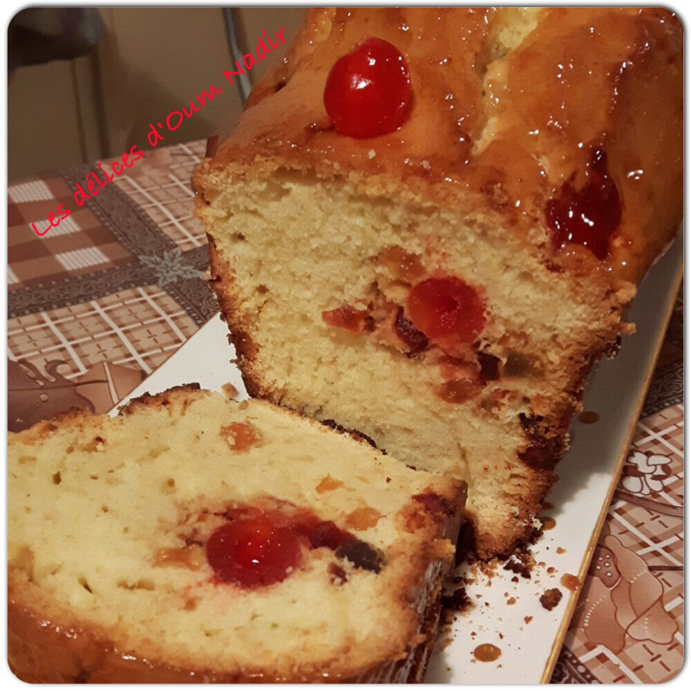 Cake aux fruits confit