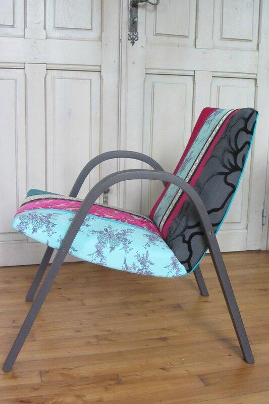 fauteuil en patchwork tapissier à Brest