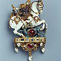 Pendant with saint george slaying the dragon, germany, late 16th century