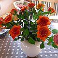 - bouquet de fleurs et tableaux -